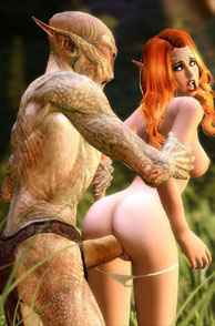 Redhead Fucked From Behind By Evil Creature - cartoon