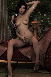 Beautiful Young Naked Elf Posing