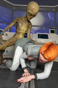 Alien Fucking A Space Babe On All Fours