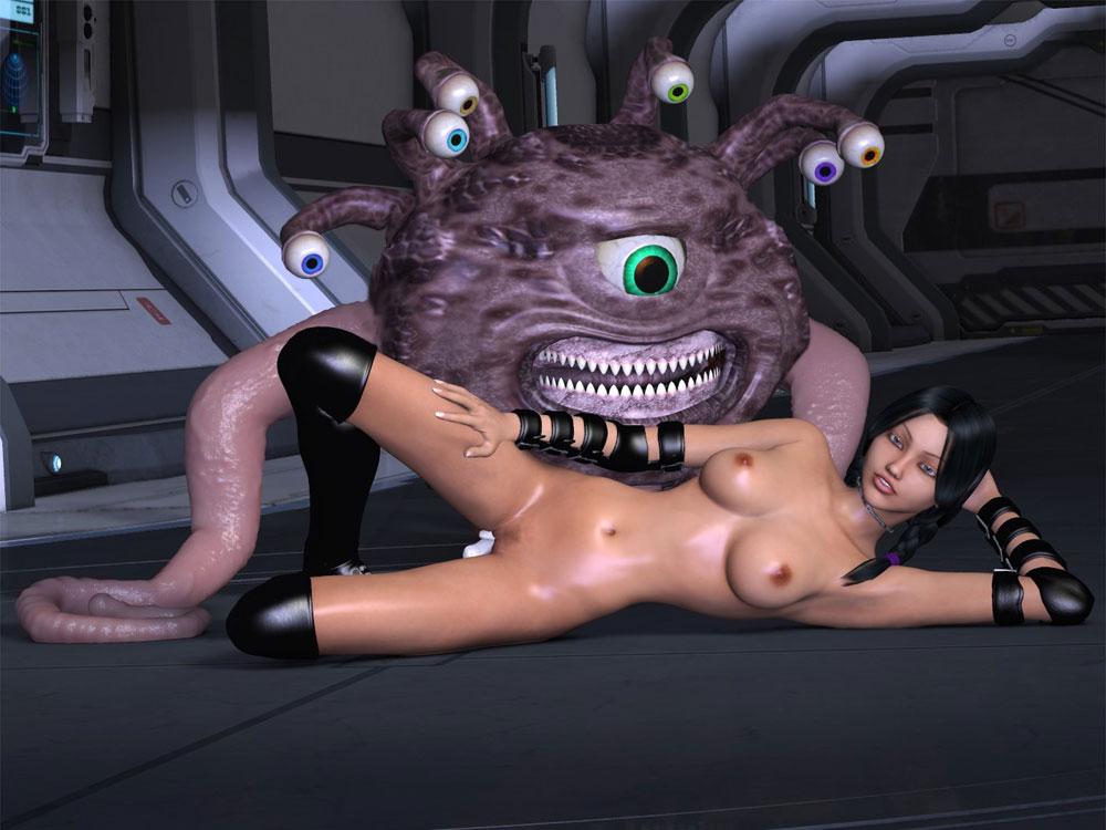 Monster having sex with hot girls
